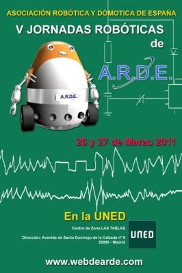 Cartel Jornadas Robóticas A.R.D.E. 2011